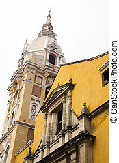 Cathedral Cartagena de Indias and Temple of Siglo Colombia...