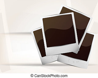Photoframes - Bright background with photoframe and white...