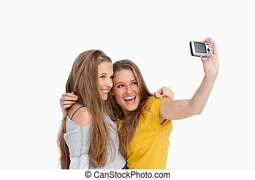 Two students taking a picture of themselves
