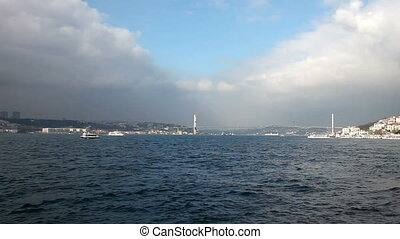 time lapse bosphorus HD 1080p - sea traffic on the bosphorus...
