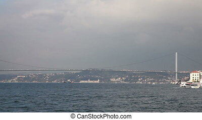 bosphorus 2 HD 1080p - sea traffic on the bosphorus istanbul...