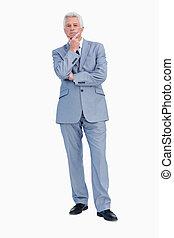 Portrait of a businessman hesitating