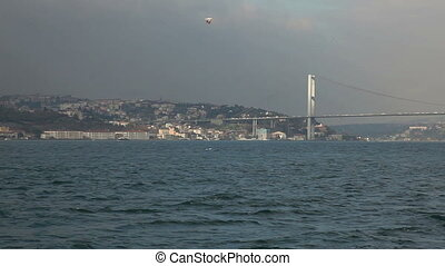 bosphorus HD 1080p - sea traffic on the bosphorus istanbul...