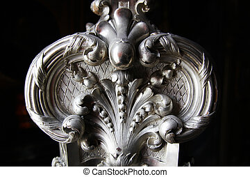 Baroque Chandeliers Column - ornaments of a baroque...