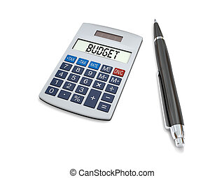 Calculating budget - Concept of budgeting with calculator...
