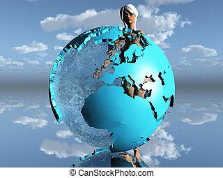 women in the earth