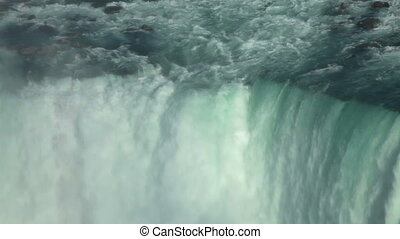 Niagara Waterfall closeup - Canadian horseshoe Niagara falls...