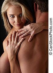 desnudo, pareja