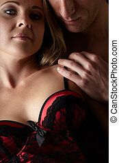 Loving caucasian couple - Young and fit caucasian adult...