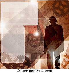 runge, business man. vector background. space for text