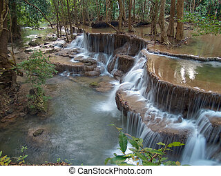Huay Mae Kamin Waterfall - Sixth level of Huay Mae Kamin...