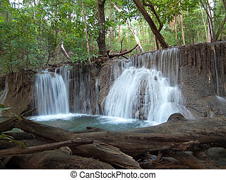 Huay Mae Kamin Waterfall - Seventh level of Huay Mae Kamin...