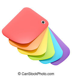 Rainbow color glossy palette isolated
