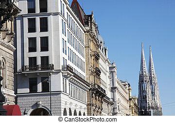 Rathausplatz Vienna - the Townhall Square, Rathausplatz,...