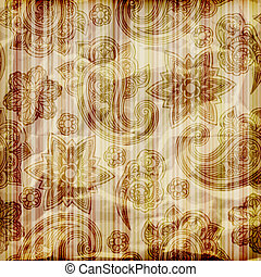 vector seamless paisley pattern on striped background