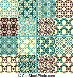 set of four vector seamless patterns, can be used separately...