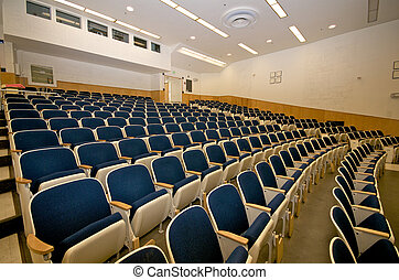 Empty lecture hall in college - Empty college lecture hall...