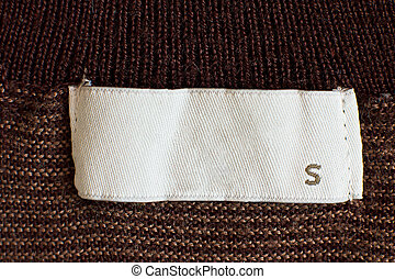 Clothing size - Macro of s size clothing label