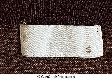 Clothing size - Macro of s size clothing label
