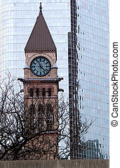 Toronto Clock Tower - Clock Tower of Old City Hall in...