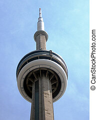 Toronto CN Tower - Top of the CN Tower in Toronto Ontario,...