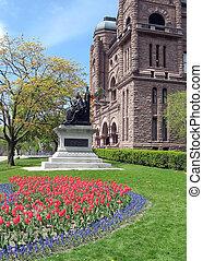 Toronto Ontario Parliament flowers