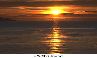 Deep and Richly Hued Sunset - A strikingly rich sunset of...