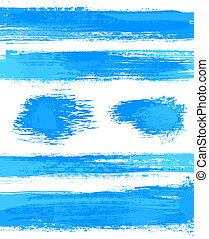 vector set of grunge banner template, dry brush effect