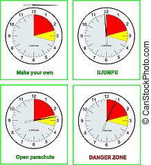 Skydive altimeters with different settings