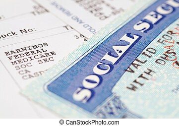 Social secruity - Social security cards with statements