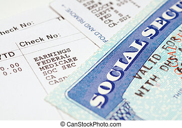 Social secruity cards with statements. - Social security...