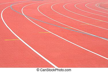 Track Running stadium turn athletic sport