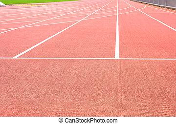 Athletics Track Running Stadium