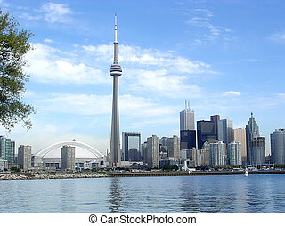 Toronto Lake the Downtown 2004 - Panorama of Downtown from...