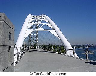 Toronto Lake Humber Bay Arch Bridge 2004 - White Humber Bay...