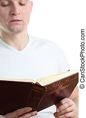 Man reading the Bible