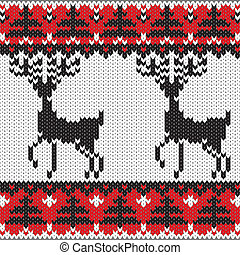 Winter knitted nordic pattern