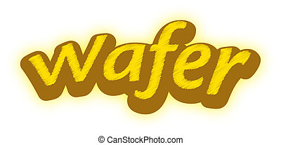 A logotype for a wafer brand