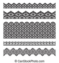 Seamless lace set - Set of lace trims Elements can also be...