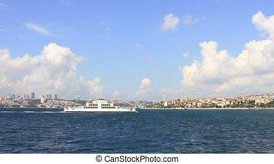 Bosporus, Istanbul  - Istanbul city ferryboat on Bosporus