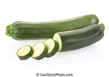 Zucchini or courgettes sliced