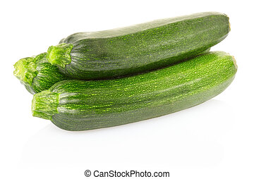Courgettes - Zucchini or courgette isolated on white,...