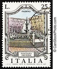 Postage stamp Italy 1973 Pretoria Fountain, Palermo - ITALY...