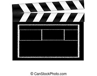 Clapperboard - This is an illustration of a clapperboard.