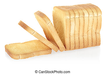 Sliced rusk bread - Rusk bread isolated on white, clipping...