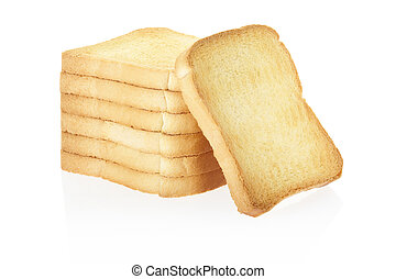 Rusk bread isolated