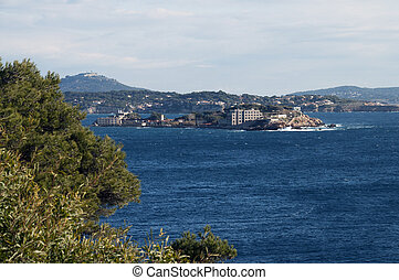 Bendor island in french riviera