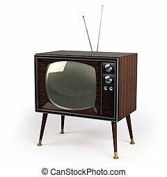 Wood Veneer Vintage TV - Classic vintage TV with wood veneer...