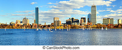 Boston Skyline - Skyline of Back Bay Boston, Massachusetts