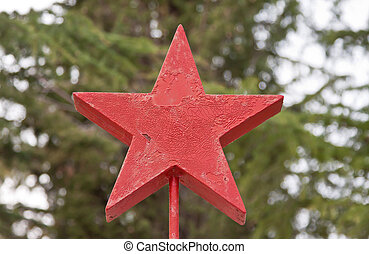 red star like a symbol of antifascism